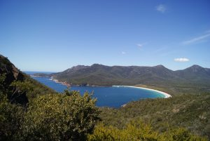 The view over wineglass bay