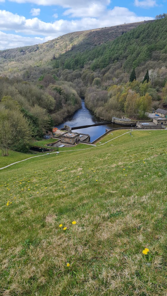 Looking down the Derwent Valley from the dam at Ladybower