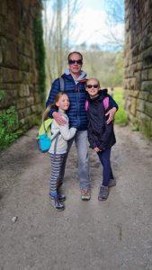 Dave, Molly & Sophie under the railway bridge